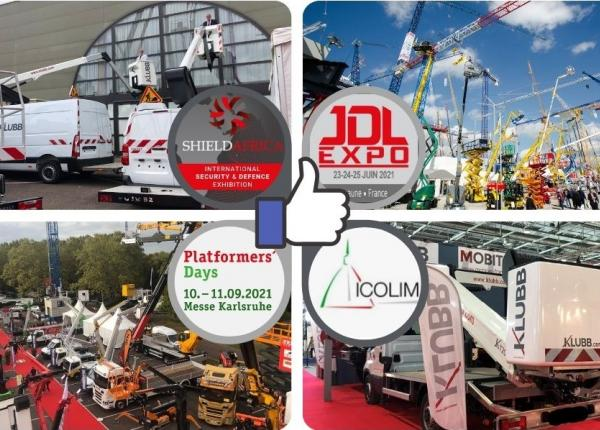 Next exhibitions where Klubb Group aerial work platforms will be presented