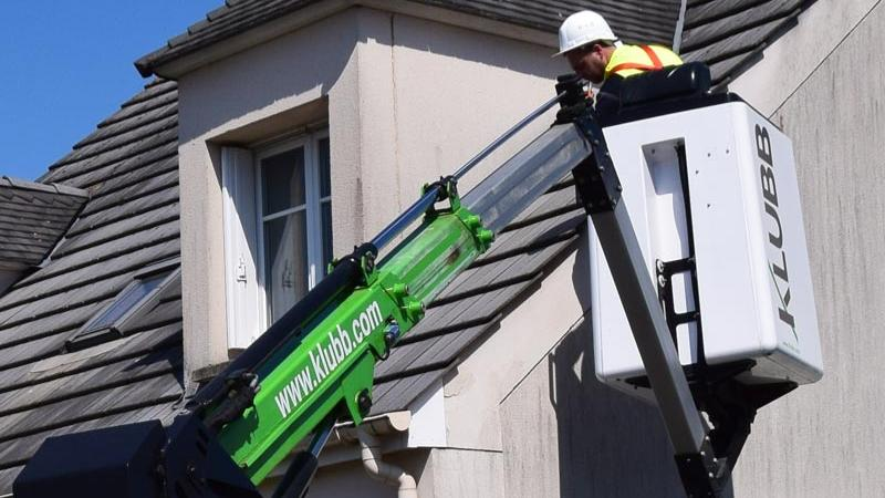 How do you deal with noise pollution when using an aerial platform to work at height?