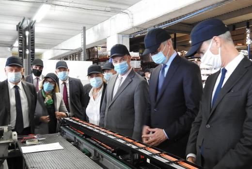 KLUBB begrüßt den Wirtschaftsminister Bruno Le Maire in der Hauptfabrik