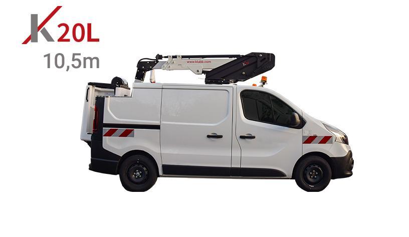 k20l aerial platform mounted on cutaway van