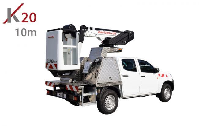 k20 aerial work platform mounted on isuzu d max pickup