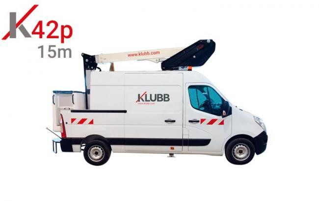 k42p aerial work platform on van