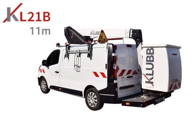 kl21b aerial work platform on a van