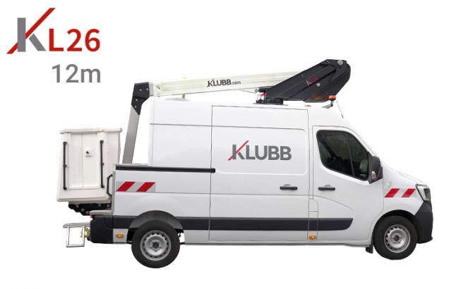 kl26 aerial work platform on a van
