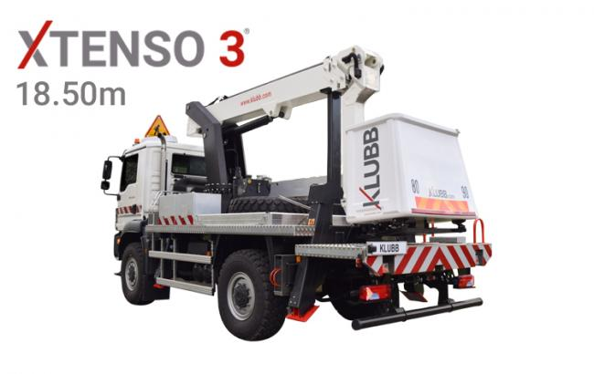 xtenso 3® truck mounted aerial platform (chassis version)