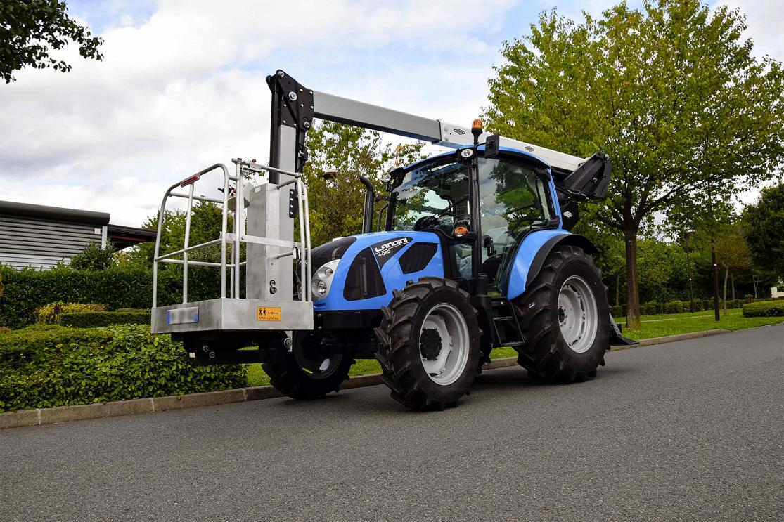 k42p 15m aerial platform mounted on a tractor